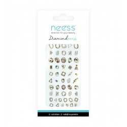 NEESS Naklejka na paznokcie Diamondneess (3713)  1szt