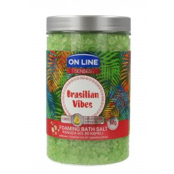 On Line Senses Pieniąca Sól do kąpieli Brasilian Vibes  480ml