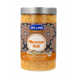 On Line Senses Pieniąca Sól do kąpieli Moroccan Gold  480ml