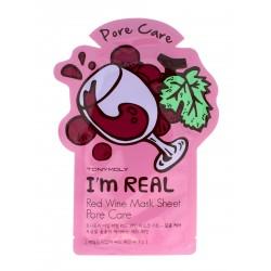TONY MOLY I'M REAL Czerwone Wino maska w płachcie 21g