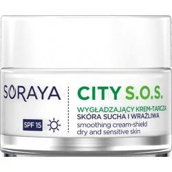 Soraya City S.O.S.Wygładzający Krem-tarcza na dzień SPF15 - cera sucha i wrażliwa  50ml
