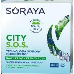 Soraya City S.O.S.Nawilżający Krem-tarcza na dzień SPF15 - cera normalna i mieszana  50ml