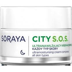 Soraya City S.O.S.Ultranawilżający Krem-kompres na noc - każdy rodzaj cery  50ml