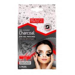 Beauty Formulas Charcoal Żelowe Płatki pod oczy z aktywnym węglem 1op-6szt