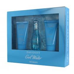 Davidoff Cool Water Woman Zestaw prezentowy (woda toaletowa 30ml+żel pod prysznic 50ml+balsam do ciała 50ml)