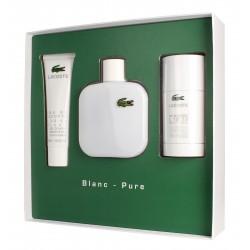 Lacoste Blanc-Pure for Him Zestaw prezentowy (woda toaletowa 100ml+żel pod prysznic 50ml+deo sztyft 75ml)
