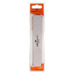 Top Choice Pilnik do paznokci 2-funkcyjny 80/100 prostokątny 18cm  1szt