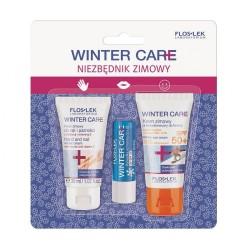 Floslek Winter Care Zestaw prezentowy Niezbędnik Zimowy (krem do rąk 30ml+krem do twarzy SPF50 30ml+pomadka ochronna)