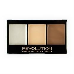 Makeup Revolution Paletka do konturowania twarzy Ultra Cream Contour Kit Lightening F01, 1 szt.