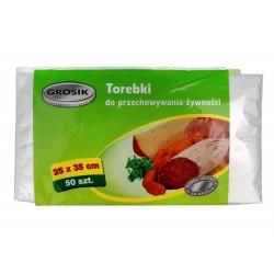 Sarantis Jan Niezbędny Grosik Torebki do przechowywania żywności 25x35cm  1op.-50szt