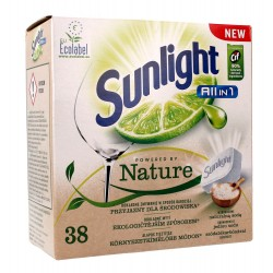 Sunlight Tabletki do zmywarek Powered By Nature All in 1   1 op.-38szt