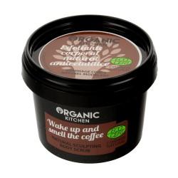 """Organic Kitchen Scrub do ciała modelujący """"Obudź się i poczuj zapach kawy""""  100ml"""