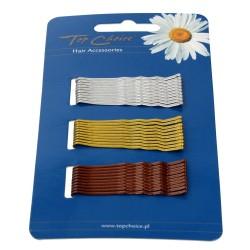 Top Choice Wsuwki do włosów 3 kolory (23736)  1op.-30szt