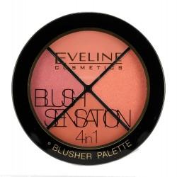 Eveline Blush Sensation 4in1 Zestaw róży do twarzy  12g