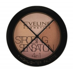 Eveline Strobing Sensation 4in1 Zestaw rozświetlaczy do twarzy  12g