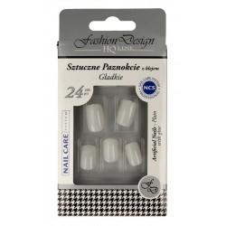Top Choice Fashion Design Sztuczne paznokcie z klejem - gładkie (77944)  1op.-24szt