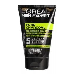Loreal Men Expert Pure Charcoal Żel do mycia twarzy przeciw niedoskonałościom 100ml