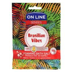 On Line Senses Pieniąca Sól do kąpieli Brasilian Vibes  80g