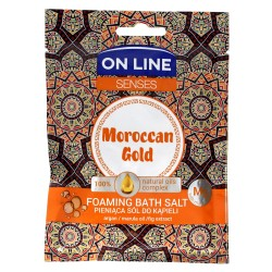 On Line Senses Pieniąca Sól do kąpieli Moroccan Gold  80g
