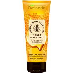 Bielenda Manuka Honey Nutri Elixir Pianka do mycia twarzy oczyszczająco-nawilżająca  150g
