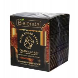 Bielenda Black Sugar Detox Krem detoksykująco-nawilżający na dzień i noc  50ml