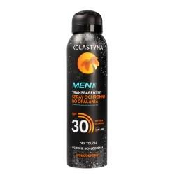 Kolastyna Opalanie Men Transparentny Spray ochronny do opalania SPF30  150ml
