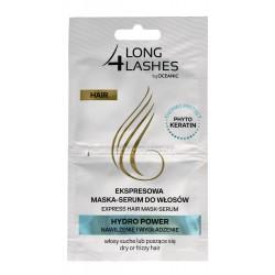 Long 4 Lashes Ekspresowa Maska-Serum do włosów Hydro Power  6mlx2
