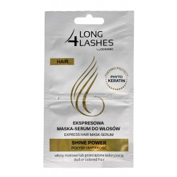 Long 4 Lashes Ekspresowa Maska-Serum do włosów Shine Power  6mlx2