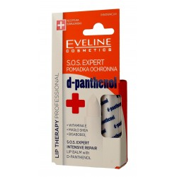 Eveline Lip Therapy Professional Pomadka ochronna do ust S.O.S.Expert d-panthenol  1szt