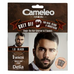 Delia Cosmetics Cameleo Men Krem koloryzujący do włosów,brody i wąsów nr 1.0 black  15mlx2