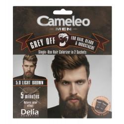 Delia Cosmetics Cameleo Men Krem koloryzujący do włosów,brody i wąsów nr 5.0 Light Brown  15mlx2