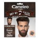 Delia Cosmetics Cameleo Men Krem koloryzujący do włosów,brody i wąsów nr 4.0 medium brown  15mlx2
