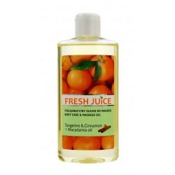 Fresh Juice Pielęgnacyjny Olejek do masażu Tangerine & Cinnamon+Macadamia Oil  150ml
