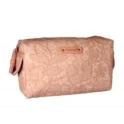 DONEGAL KOSMETYCZKA damska różowa haftowana 18x11x10cm (4970)  1szt