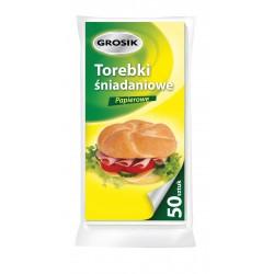 Sarantis Jan Niezbędny Grosik Torebki śniadaniowe papierowe  1op.-50szt