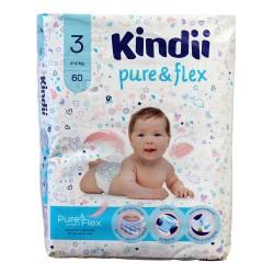 Kindii Pure & Flex Pieluchy jednorazowe 3 (4-9kg)  1op.-60szt