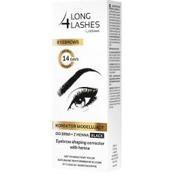 Long 4 Lashes Eyebrows Korektor modelujący do brwi z henną czarny  10ml