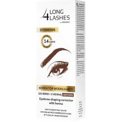 Long 4 Lashes Eyebrows Korektor modelujący do brwi z henną brązowy  10ml