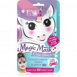 Eveline Magic Mask Oczyszczająca Maska w płacie 3D Cute Unicorn  1szt