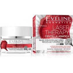 Eveline Laser Therapy Centella Asiatica 50+ Silnie Odbudowujący Krem na dzień i noc  50ml
