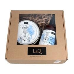 LaQ Zestaw prezentowy dla mężczyzn (peeling 200ml+żel pod prysznic 8w1 300ml)