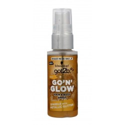 Schwarzkopf Got 2b Go'N'Glow Spray rozświetlający do włosów i ciała Gold  50ml