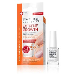 Eveline Nail Therapy Odżywka proteinowa do paznokci + baza Extreme Growth  12ml