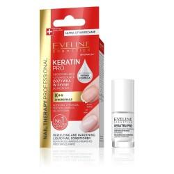Eveline Nail Therapy Odżywka do paznokci odbudowująco-utwardzająca Keratin Pro  5ml