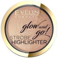 Eveline Glow & Go Rozświetlacz wypiekany nr 02 Gentle Gold  8.5g