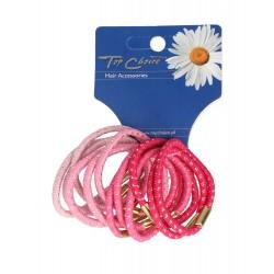 Top Choice Gumki do włosów różowe (21299)  1op.-12szt