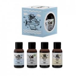 YOPE Mini Zestaw podróżny (szampon+odżywka+żel pod prysznic+balsam do ciała)  4x40ml