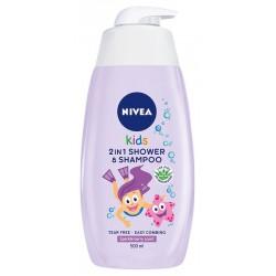 Nivea Kids Żel do mycia ciała 2w1 dla dziewczynek Sparkle Berry  500ml