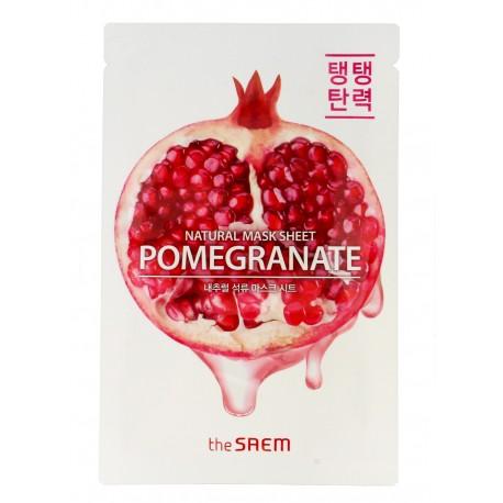 The SAEM Natural Mask Sheet Maska na tkaninie Pomegranate  21ml