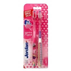 Jordan Szczoteczka do zębów DUO Individual Reach Soft - mix kolorów  1 op-2szt